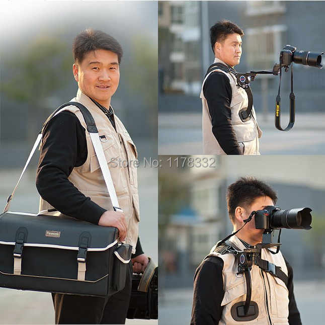 Exempt postage + tracking number Camera Camcorders Hands-Free Shoulder Support Tripod Mount Rig pad for Sony 5D 60D D3100 PT006
