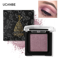 UCANBE Pro Prismatic Eye Shadow Shimmer Glitter Eyeshadow Nude Single Palette Metallic Powder Matte Pigment Red Smoky Cosmetic(China)