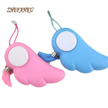 2017 New Angel Wings Keychain For Woman Anti Wolf For Self-defense Electronic Alarm Mobile Phone Lady Lovely Keychain(China)