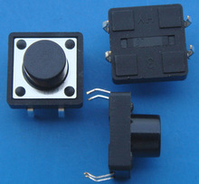 10PCS/LOT  12*12*9.5 button touch switch imported  Yu Electronic shrapnel integrated circuit