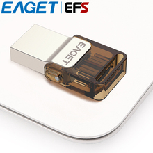 Hot Selling EAGET V9 USB2.0 32gb Pendrive Ultra Thin Rotation Cap Metal Flash Drive Portable OTG USB Memory Stick For Android(China)