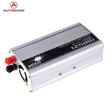 Portable Car Power Inverter DC 12V to AC 220V 1200W mobile Auto vehicle Car Power Converter Transformer Charger for car battery(China)