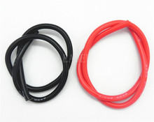1 Meter Black+1 Meter Red 8AWG/ 10AWG High Temperature Soft Silicone Cable Silica Gel Wire Heatproof Tinned Copper Power Cable