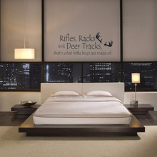 Rifles Racks And Deer Tracks Quote Wall Art Sticker Wall Decal Home DIY Decoration Wall Mural Removable Room Decor Wall Stickers