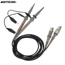 2Pcs Oscilloscope Probe kit P6100 100MHz 1X 10X High Precision Alligator Clip Test Low Passive Limpedance Attenuation Probe(China)