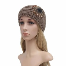 FEITONG Women Knitting Headband Handmade Keep Warm Hairband New fashion Knitting Wool comfortable headbands for girls