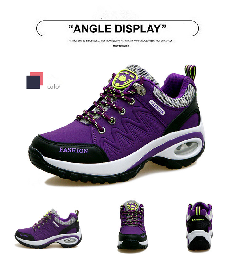 17 High quality Sneakers women shoes Running shoes woman leather Sport Shoes Air damping Outdoor arena Athletic zapatos mujer 9