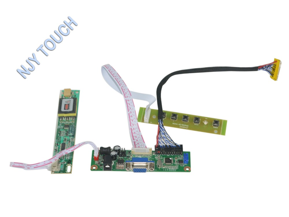 VGA LCD Controller Board Kit For 15.4inch 1680x1050 LP154WE3-TLA3 LP154WE2  CCFL LVDS Video Board with 5-KEY Keypad<br><br>Aliexpress