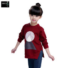 Fashion Autumn Knitted Sweaters Wool Geometric Patterns Les Filles Long Sweater Girls Thin Pullover Underwear Children Clothing(China)