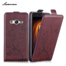 Lamocase Brand Case For Samsung Galaxy Ace 4 Lite G313 G313H SM-G313H Ace 4 Neo G318H SM-G318H Embossing Leather Protective Bags(China)