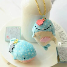 2 style 10 cm Plush Doll lovely wedding bouquet pendant whale toys