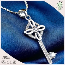 Good Quality Nice Church Design 925 Sterling Silver Key Pendant