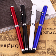 Compatible 4 in 1 Laser Pointer LED Torch Touch Screen Stylus Ball Pen for iPhone for Ipad for Samsung Portable free shipping(China)
