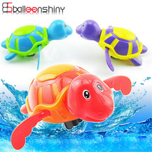 1pcs Mini Bath Toy Funny Colorful Clockwork Toy Baby Kid Tortoise Wind Up Running Spring Toy Random Color(China)