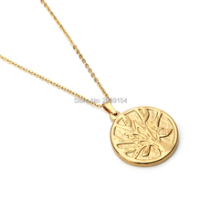Fashion Necklace For Women 2017 Charm Stainless Steel Vintage Necklace &Pendant Gold Plant Trendy Jewelry Classic  Accessories