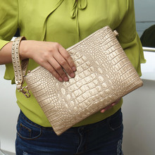 Women Clutch Bags PU Leather Crocodile Pattern Envelope Shoulder Ladies Messenger bag Handbag Female Gift Clutches Totes
