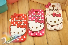 For samsung Galaxy S4 mini Case Polka Dot Hello Kitty Cell Phone Silicone Cases Cover For samsung S4 mini i9190
