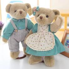 35cm Couple Vitoria Bear Joint Soft Doll Stuffed Plush Animal Toy For Baby Girls Kids Lover Children Best Gift Baby Plush Toys(China)