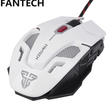 FANTECH V2 Wired USB 2.0 Optical Gaming Mouse 7 Colors Breathing Light 2400 DPI Adjustable 5 high precision Buttons for Gamer