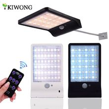 Upgraded 48 leds Solar Light Color Adjustable With Controller Three Modes Waterproof Lamp Lights For Outdoor Garden Wall Street(China)