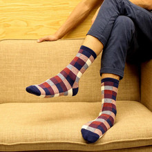 1 pair  Spring Autumn Winter Cotton Men Socks Korean Classic fashion Plaid casual tube Socks best gifts