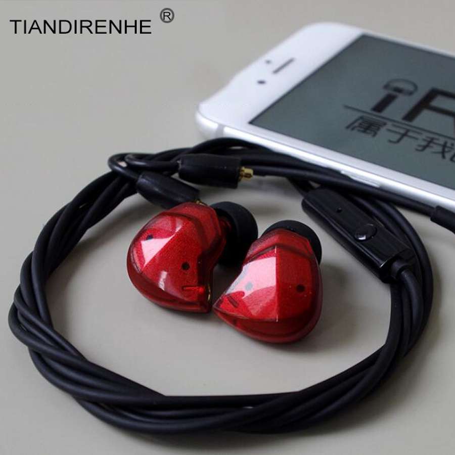 Balanced Armature Dynamic In-ear Earphone BA Driver Noise Cancelling Sport Headset with Mic 28 Cores Replacement MMCX Cable<br>