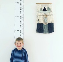 Children Kids Growth Chart Height Ruler Wall Sticker Ruler Growth Chart Wall Decal Height Measurement Sticker Decorative Gift(China)