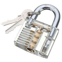 Metal Transparent High Quality Beautiful Design Modern Style Visible Cutaway Practice Padlock Lock Training Skill
