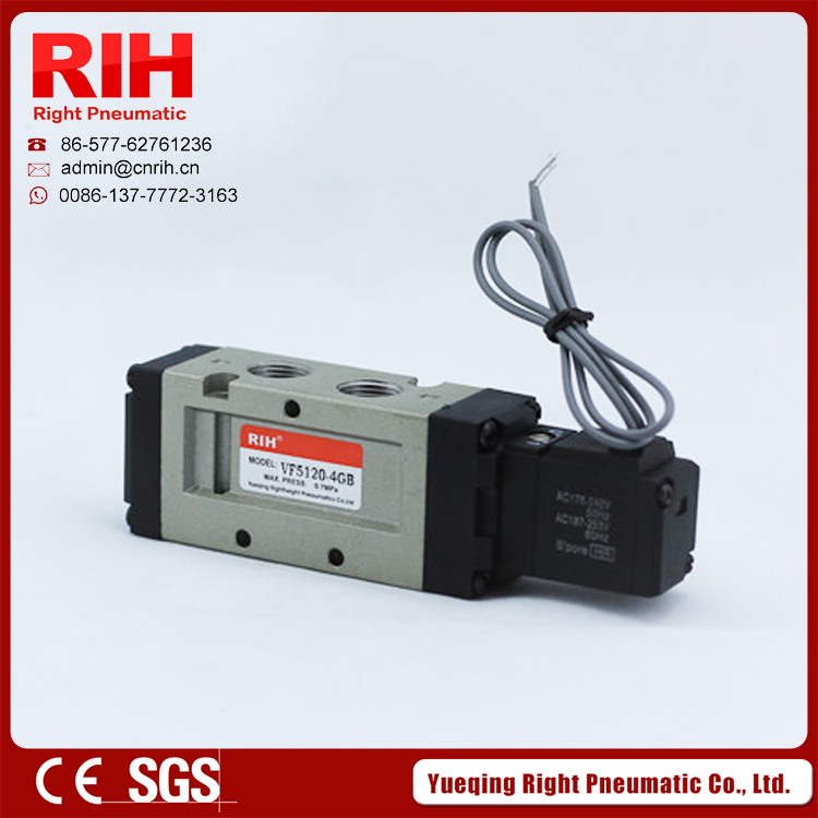 VF5120 2/5 way lead wire  pneumatic Air solenoid valve facotry G3/8 BSP<br><br>Aliexpress