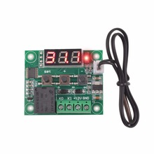 W1209 Digital LED DC 12V Heat Cool Temp Thermostat Temperature Control Switch Module On/Off Controller Board + NTC Sensor(China)
