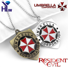 Hot Movies Resident Evil Biohazard Rpd Stars Guitar Pick Necklace Umbrella Corporation Logo Metal Gaes Pendant Necklace Jewelry