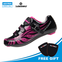 SIDEBIKE Professional Bicycle Cycling Women Shoes For Mountain Bike Racing Bicycle Shoes MTB Road Bike Shoes Trekking Shoes(China)