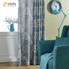DIHIN 1 PC curtains kitchen door curtains bedroom curtain drape semi-blackout window blinds for balcony