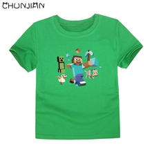 CHUNJIAN toddler boy 12 colors short sleeves  t shirts baby boy t-shirt camisetas nina children classical tops for 2-14 years