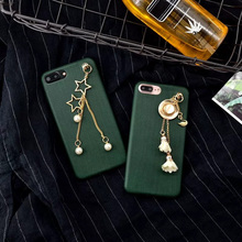 Luxury Hard PC Charm Pearl Case For iPhone 6 Case For Capa iPhone 7 6S 6 Plus Phone Cases TPU Back Cover Case