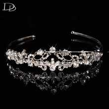 silver color bohemia design bridal romantic wedding hair accessories crystal jewelry for women flowers decoration female F020
