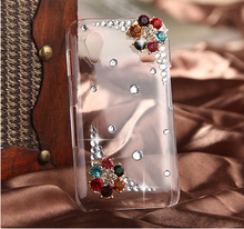 New Luxury 3D Flowers Rhinestone diamond Hard case Plastic bling cover For Samsung Galaxy Ace S5830 case S5830i case(China)