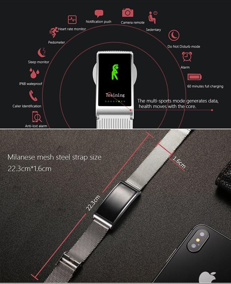 Microwear X3 IP68 Waterproof smart fitness bracelet pedometer blood pressure smart wristband Android iOS fitness tracker 25