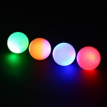 2Pcs Golf ball Night Light Luminous Glowing Flashing Fluorescence LED Tracker Training ball