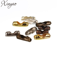 XINYAO 200pcs Diameter 1.5 2 3.2 mm Ball Chain Connectors Clasps Gold/Silver Color Copper Connectors For DIY Jewelry Making F14