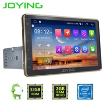 "8""Joying 2GB+32GB Single DIN Android 6.0 Gold Car Radio Stereo Universal GPS Navigation Multimedia Player 1024*600 Head Unit"