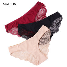 MAIJION 3pcs/lot New Women's Sexy Lace Seamless Traceless Panties,Low-Rise Waist Hollow Out Temptation Briefs For Female Hot(China)