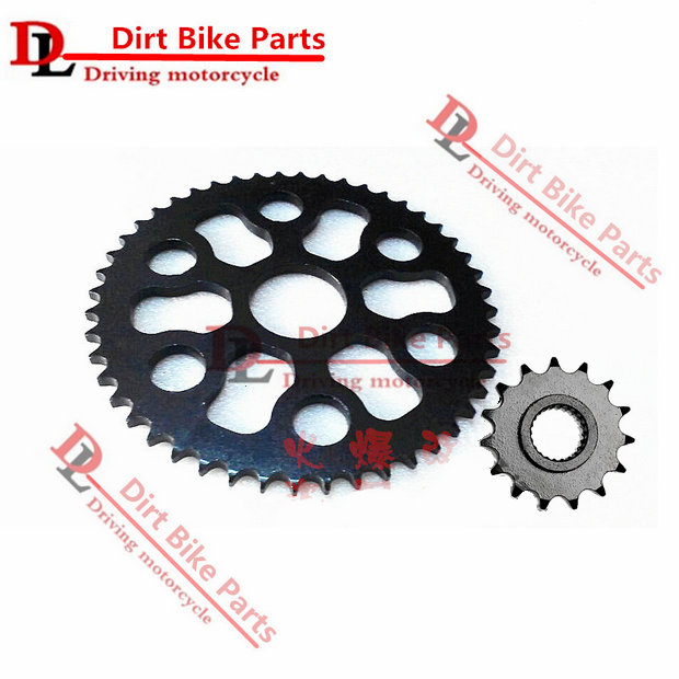 Free shipping Dirt motorcycle Front&amp;Rear Sprocket geartransmission For Yamaha Tricker XG250 (428)<br>