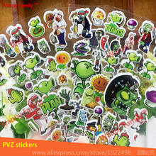 6Pcs/Lot Plants vs zombies bubble sticker,Plants vs Zombies game stickers For Kids rooms fashion decor stickers(China)