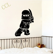 Ninjago Lego Vinyl Decal Sticker Kids Boy Room Decor Children's Play Wall Stickers - aooins Store store