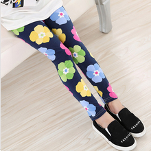 Fashion Kids Clothing Girl Pants Printing Flower Girls Leggings Toddler Classic Legging for 2-13Y Baby Childrens Ankle Leggings