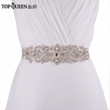 Buy TOPQUEEN S26 Stock Exquisite Handmade Wedding Sash Belt Crystal Rhinestone Beading Czech Stones Bridal Sash Formal Wedding Belt for $8.99 in AliExpress store