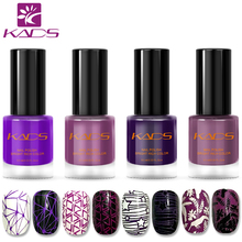 KADS New Arrival Purple Nail Polish 4PCS/SET Stamping Nail Lacquer 9.5ML Two In One Nail Stamping Polish For Stamping Art(China)