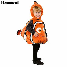 Itsameal Nemo Cosplay Costume Finding Nemo Fish Costume Enfant Cute Baby Clownfish Sea Animal Mascot Hallowmas Suit for Kids