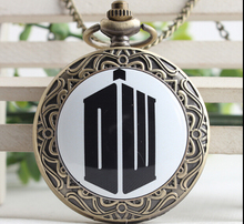 FANTASY UNIVERSE Freeshipping wholesale 10pc a lot Doctor Who pocket watch Necklace PKO52(China)
